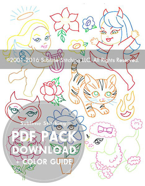 SMALL PACK Embroidery Patterns - LISA PETRUCCI