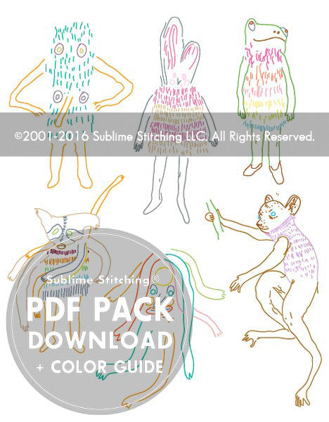 SMALL PACK Embroidery Patterns - MARK ALLEN!