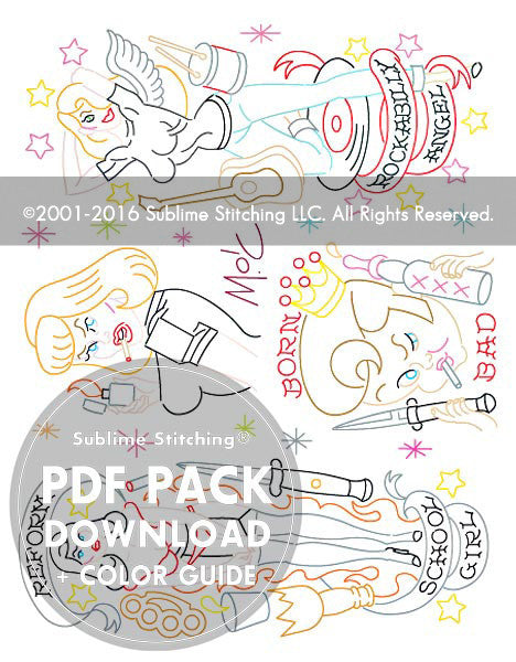 SMALL PACK Embroidery Patterns - MITCH O'CONNELL