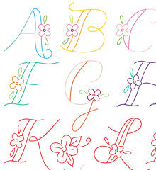 SMALL PACK Embroidery Patterns - MONOGRAMS