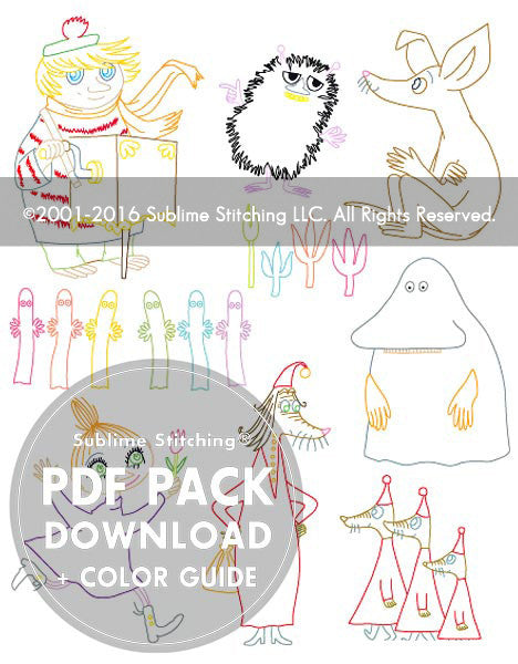 SMALL PACK Embroidery Patterns - MOOMIN FRIENDS
