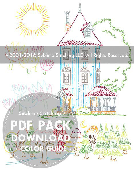 SMALL PACK Embroidery Patterns -  MOOMIN HOME