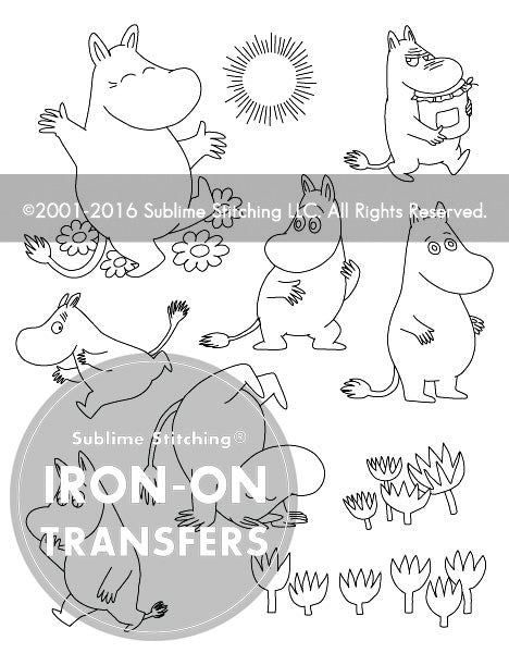 SMALL PACK Embroidery Patterns -  MOOMINTROLL