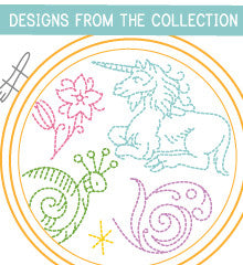 SMALL PACK Embroidery Patterns -  FLORA, FAUNA & FANTASY