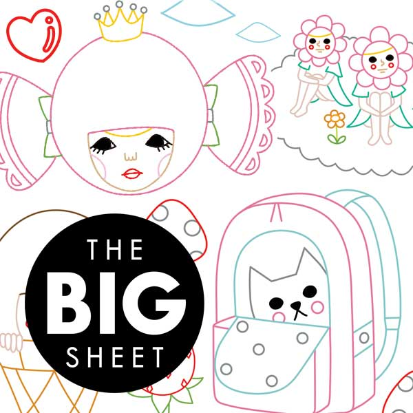 BIG SHEET Embroidery Patterns - NAOSHI FANTASTIC & POP