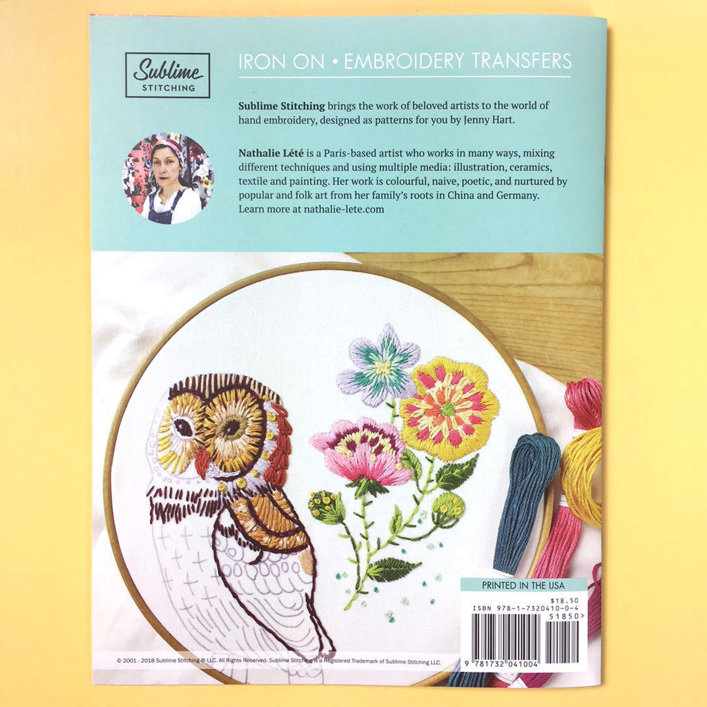 Sublime Stitching Embroidery Patterns Portfolio Nathalie Lete