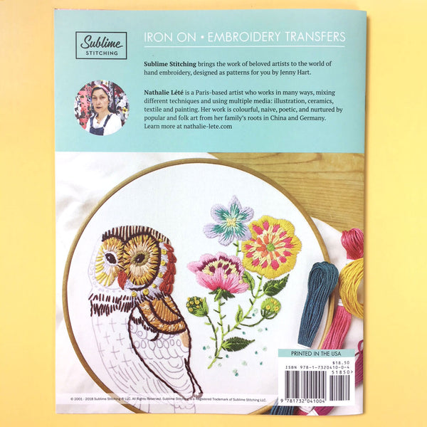 Sublime Stitching Embroidery Patterns Portfolio - NATHALIE LETE