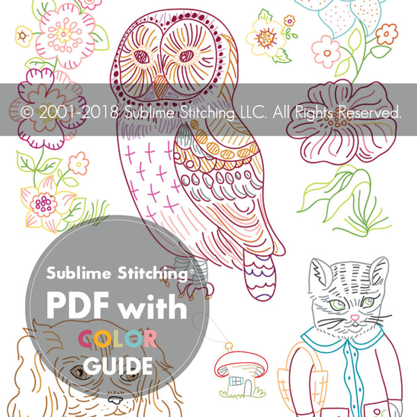NATHALIE LÉTÉ for Sublime Stitching Embroidery Pattern Portfolio #1