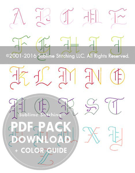 SMALL PACK Embroidery Patterns -  OLDE ALPHABET