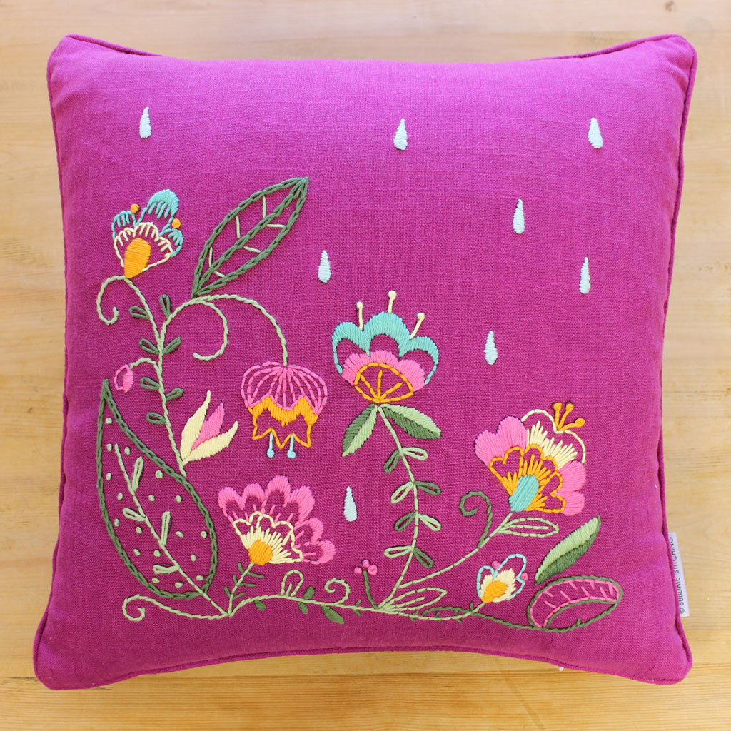 Hand Embroidery Tapestry Pillow Kit Sublime Stitching