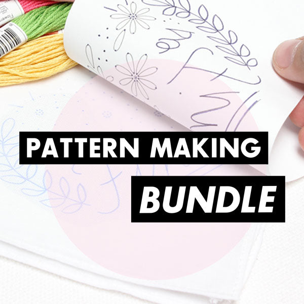 BUNDLE - Embroidery Pattern Making Pens and Papers