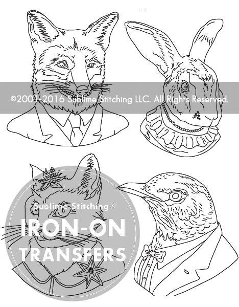 "Ryan Berkley Iron On Embroidery Patterns and ""Pet Portrait"" Floss Bundle"