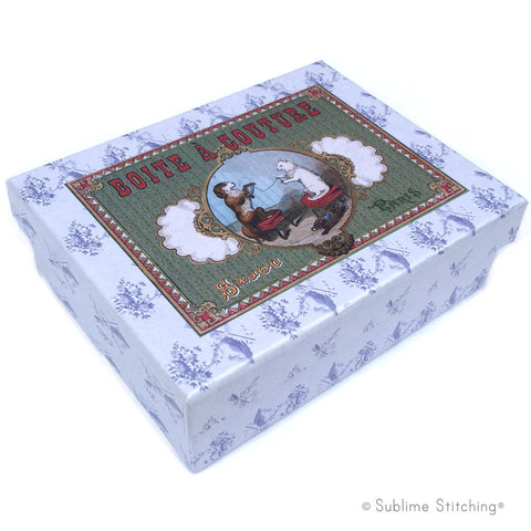 SAJOU SEWING BOX - Dog and Cat
