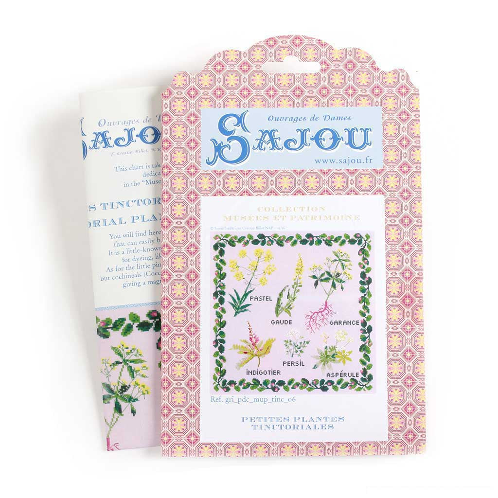 Sajou cross stitch pattern chart small tinctorial plants