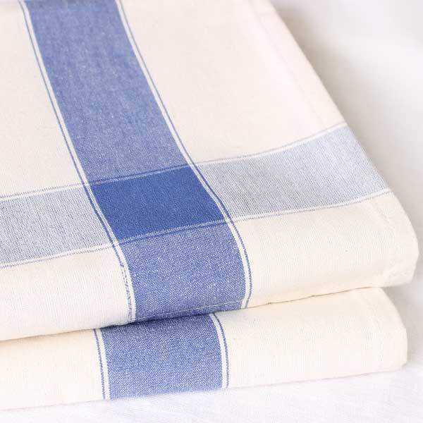 SAJOU DISH TOWEL - Blue Stripe / Ecru