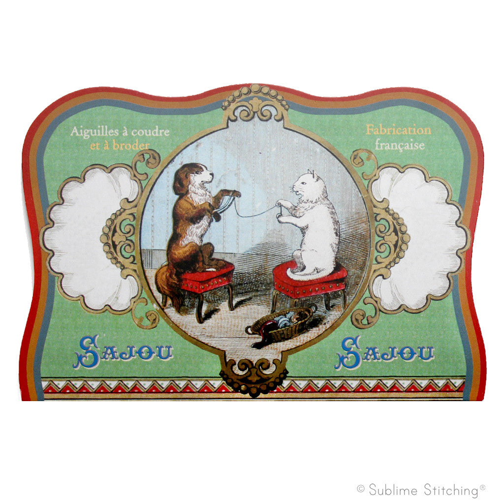 SAJOU NEEDLE BOOK - Dog and Cat