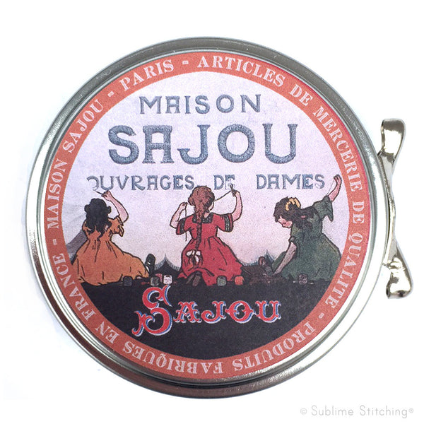 SAJOU SEWING TIN - Girls Embroidering