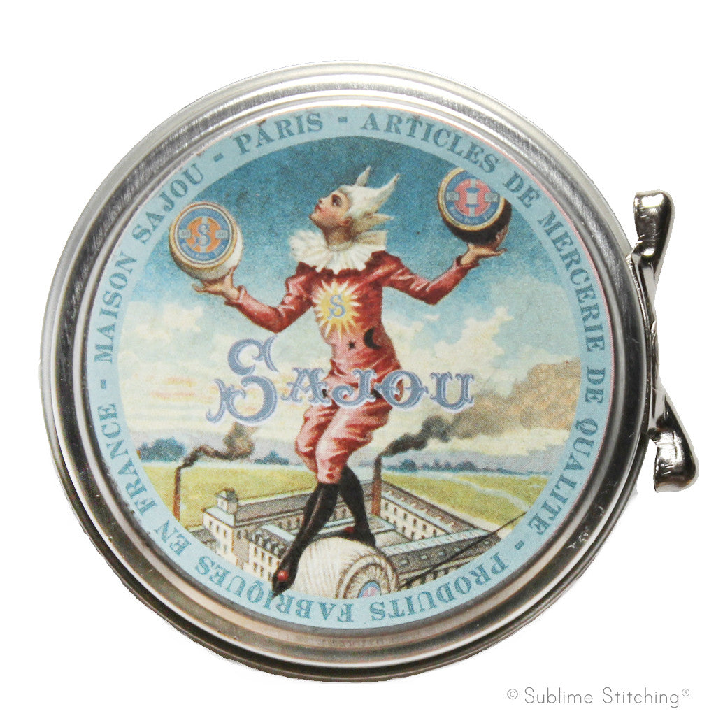 SAJOU SEWING TIN - Tightrope Walker
