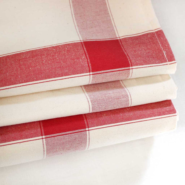 SAJOU DISH TOWEL - Red Stripe / Ecru