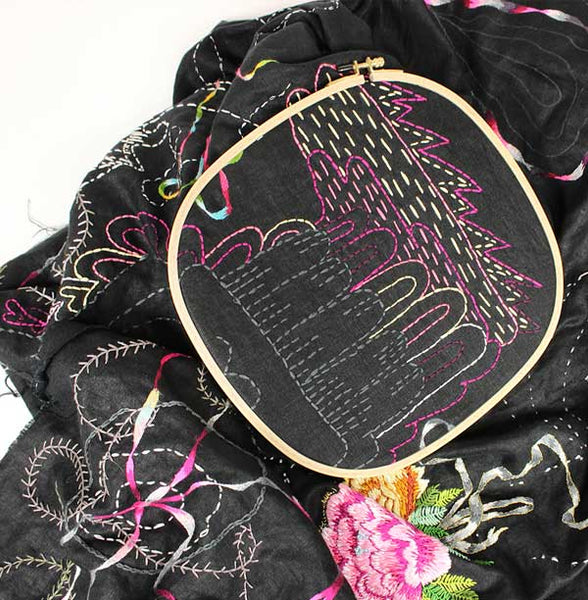 8mm SQUARE Embroidery Hoop by Klass & Gessmann