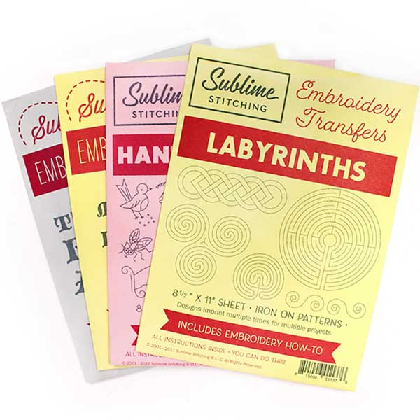 PATTERN BUNDLE Labyrinths, Loteria #2, The Black Apple, Hanky Corners