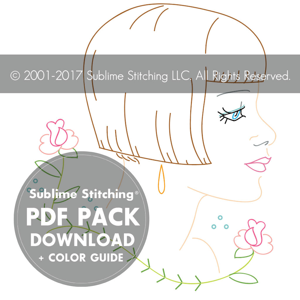 Vintage Hairstyles Embroidery Patterns Sublime Stitching