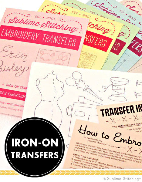 RYAN BERKLEY Iron On Embroidery Transfer Patterns