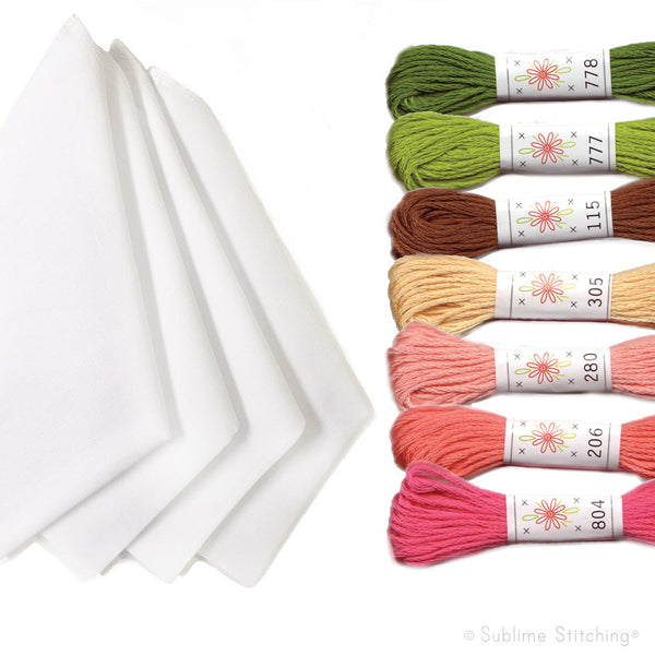 Embroidery Kit - Handkerchiefs