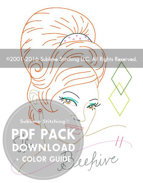 Hairstyles Series | The Beehive - PDF Pattern