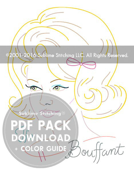 Hairstyles Series | The Bouffant - PDF Pattern