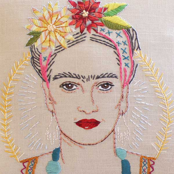 TE AMO FRIDA - Embroidered Portrait Pattern & Stitch Atlas™ by Jenny Hart