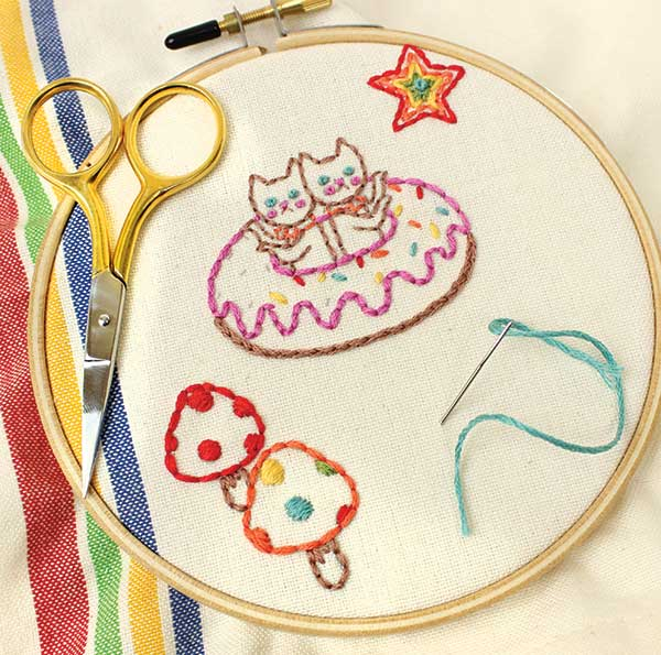Ultimate Embroidery Kit - Tea Towel