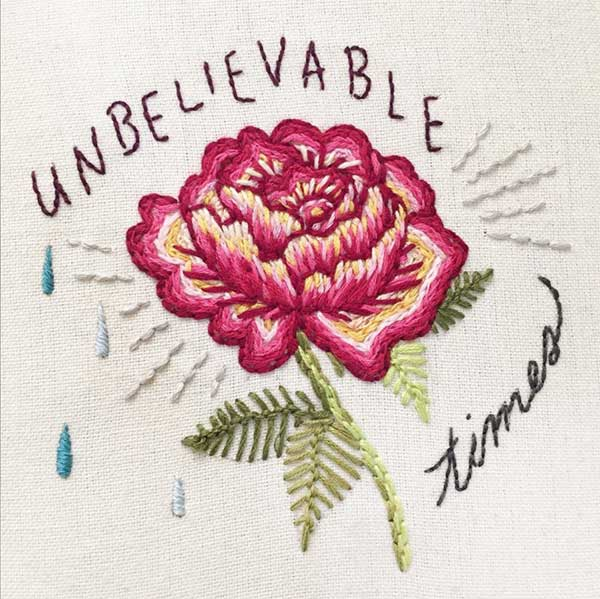 """Unbelievable Times"" Embroidery Design by Jenny Hart"