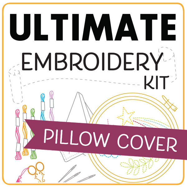 Ultimate Embroidery Kit - Pillow Cover