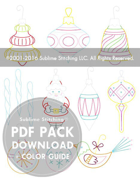 SMALL PACK Embroidery Patterns -  VINTAGE ORNAMENTS