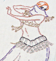 SMALL PACK Embroidery Patterns -  BELLY DANCERS