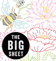 BIG SHEET Embroidery Patterns - BIG BLOOMS