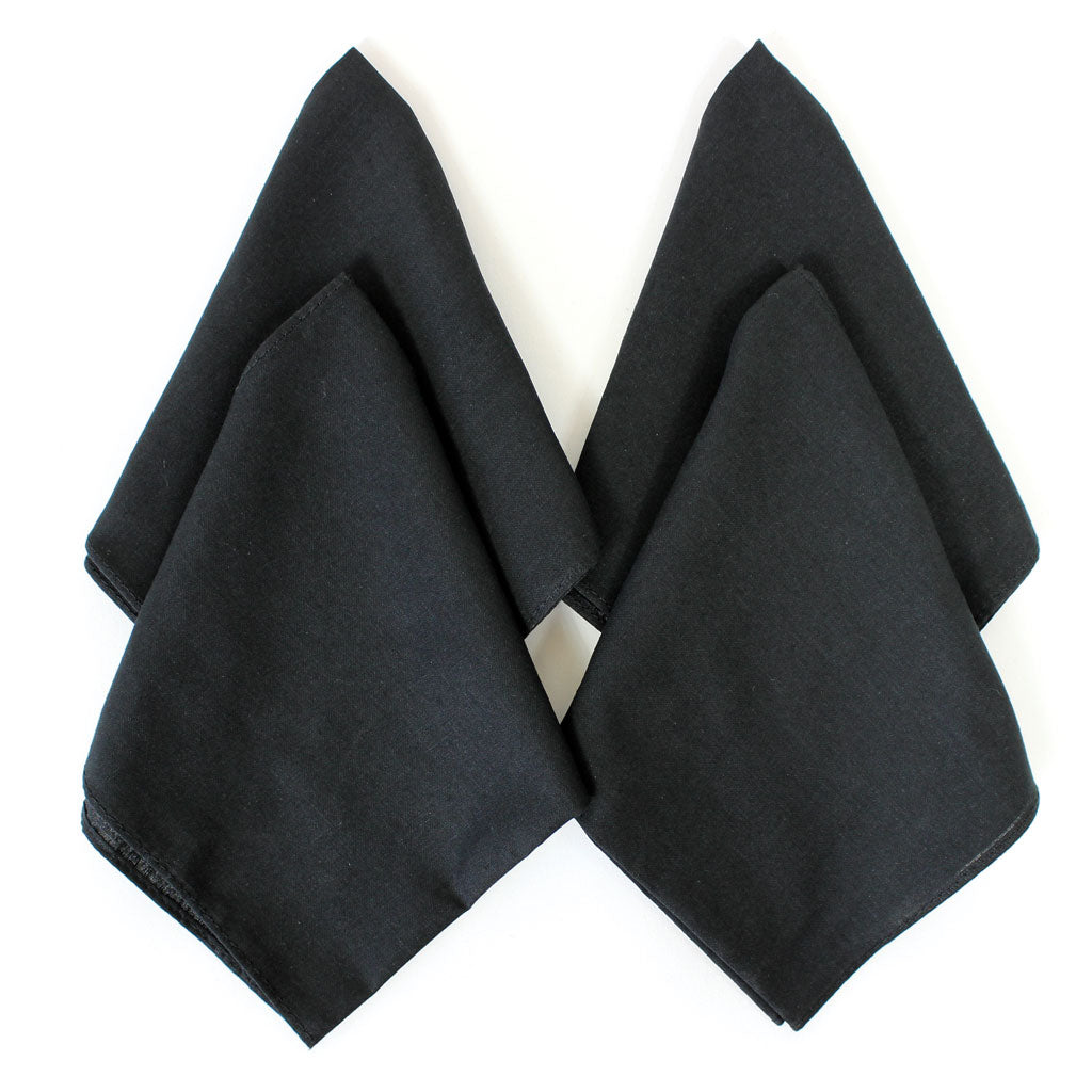 Black Handkerchiefs for Embroidery