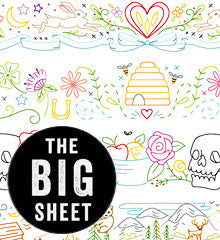 BIG SHEET Embroidery Patterns - SUBLIME BORDERS