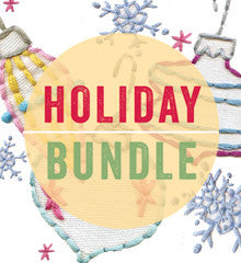 Happy Holidays Embroidery Bundle