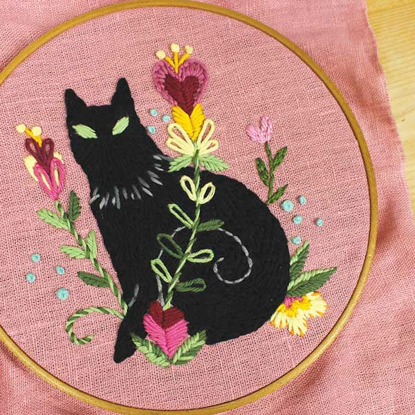 Mysterious Guest Black Cat PDF Pattern
