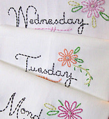 SMALL PACK Embroidery Patterns -  DAINTY DAYS