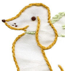 SMALL PACK Embroidery Patterns -  DARLING DACHSHUNDS
