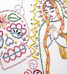 SMALL PACK Embroidery Patterns -  DIA DE LOS MUERTOS