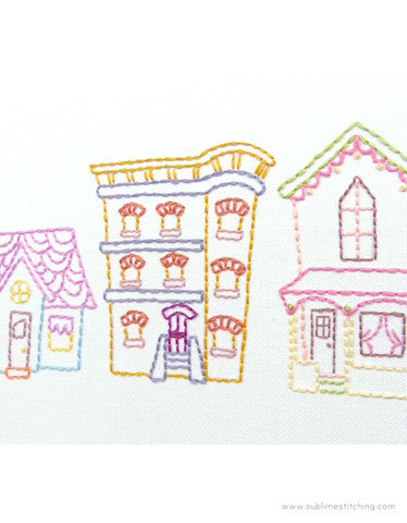 SMALL PACK Embroidery Patterns -  DREAM HOMES