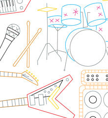 ROCK 'N ROLL - Embroidery Patterns