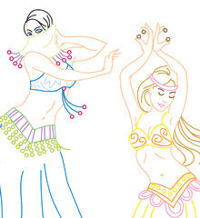 BELLY DANCERS - Embroidery Patterns
