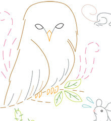 SMALL PACK Embroidery Patterns -  BIRDS OF PREY