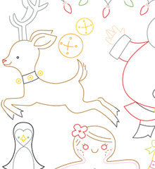 SMALL PACK Embroidery Patterns -  CHRISTMAS TIME