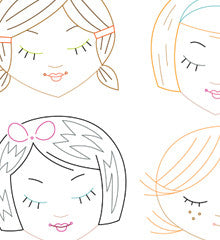 SMALL PACK Embroidery Patterns -  CUTE LITTLE HEADS